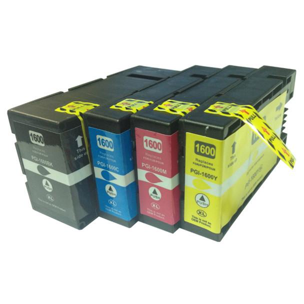 PGI-1600XL Premium Pigment Compatible Inkjet Cartridge Set (4 Cartridges)