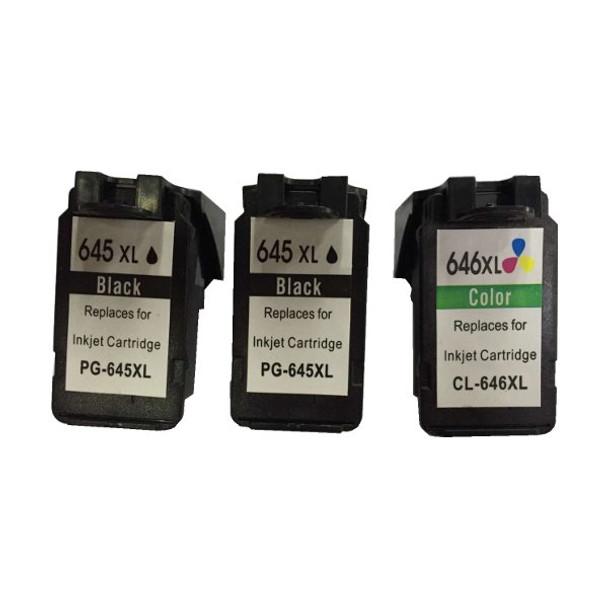 Remanufactured Value Pack (2 x PG645XL Black & 1 x CL646XL Colour) *New Chip