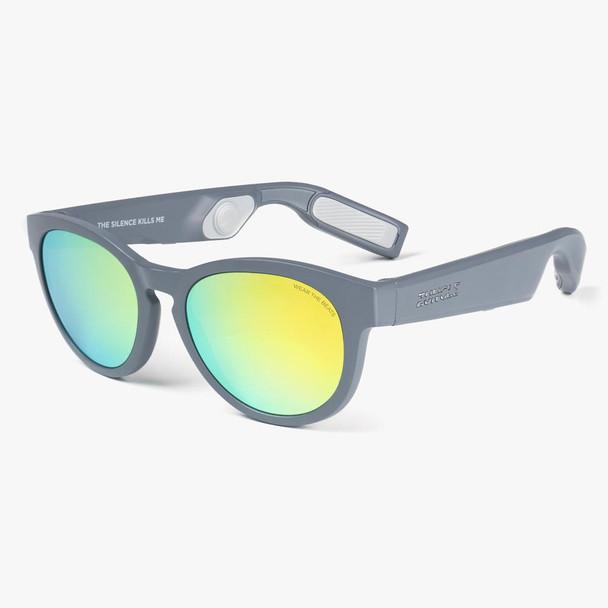 ZUNGLE LYNX Bone Conduction Bluetooth Sunglasses Matte Grey