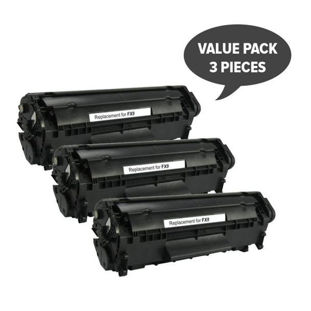 FX-9 Black Premium Generic Toner (Set of 3)