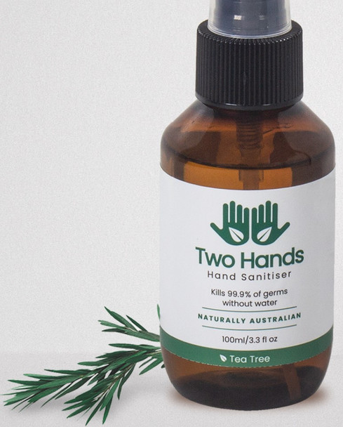 Two Hands Hand Sanitiser with Antibacterial Tea Tree Mist Spray 125ml