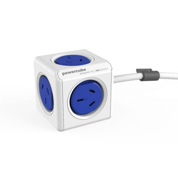 ALLOCACOC POWERCUBE Extended 5 Outlets, 3M – Blue (LS)