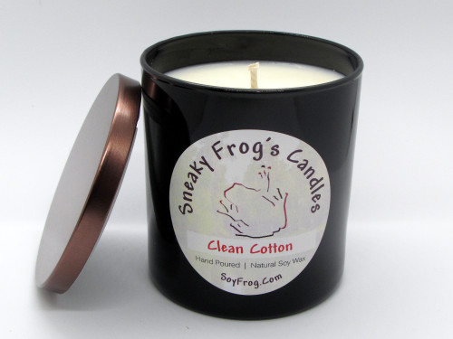 Sneaky Frog Scented Natural Soy Wax Candles, Soy Wax Candles in Black Glass Containers, 10 oz Scented Soy Wax Candle