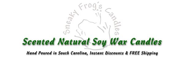 Sneaky Frog's Natural Soy Wax Candles
