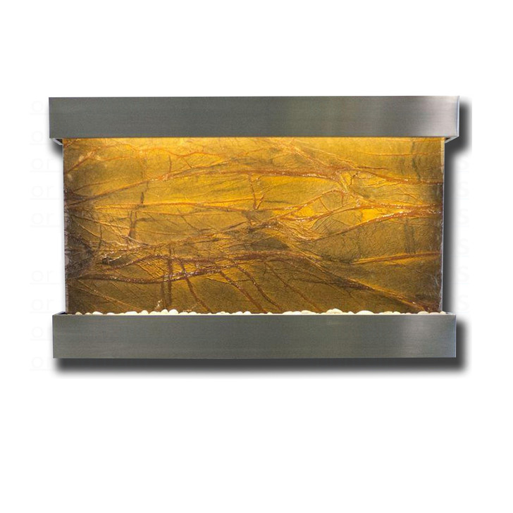Large Horizon Falls Classic Quarry Rainforest Brown Marble with Stainless Steel Kit