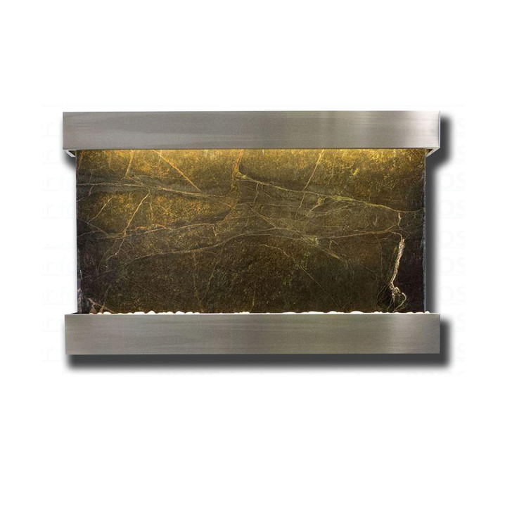 Large Horizon Falls Classic Quarry Rainforest Green Marble  with Stainless Steel Kit