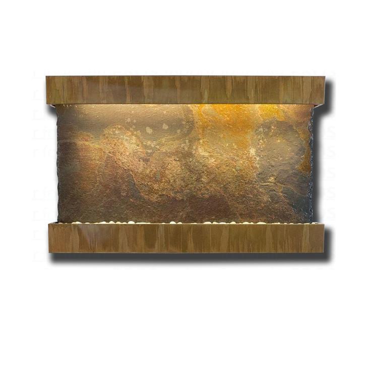 Large Horizon Falls Classic Quarry Rajah Slate with Copper Patina Trim Kit