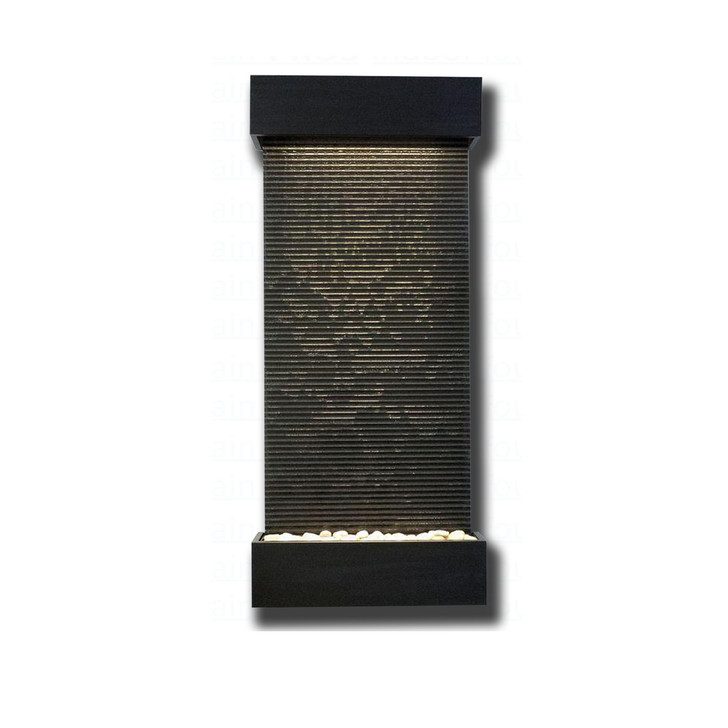 Large Nojoqui Falls Textured Black Granite with Black Onyx Trim Kit