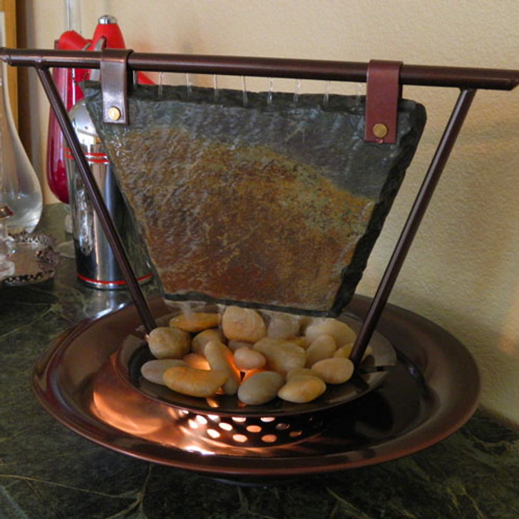 Haiku Moon Tabletop Water Fountain
