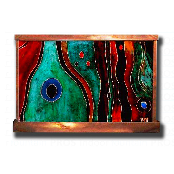 Santa Fe Stained Galaxy Small Wall Fountain