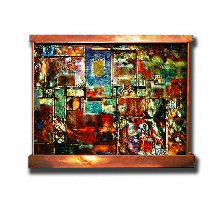 6' x 5' Copper Patchwork Wall Fountain