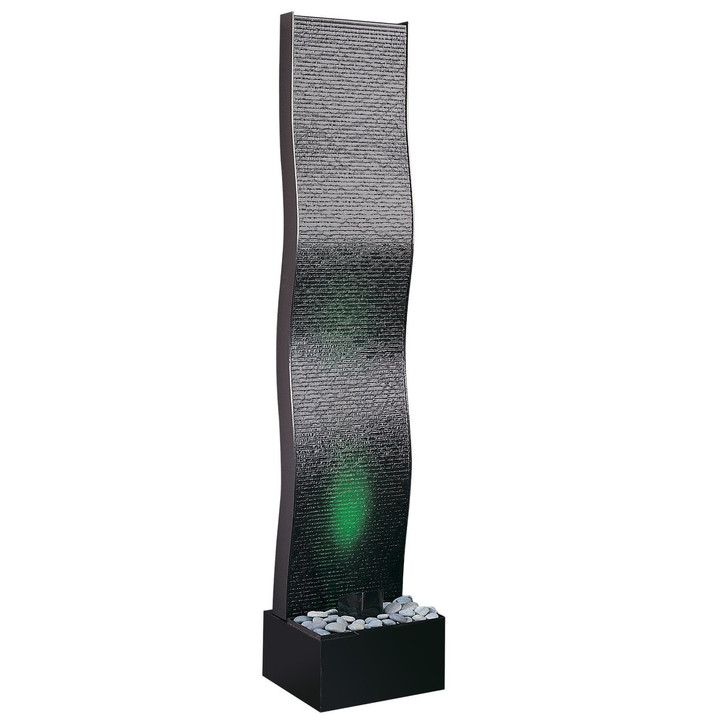 AquaFalls Wave Floor Water Fountain - Medium