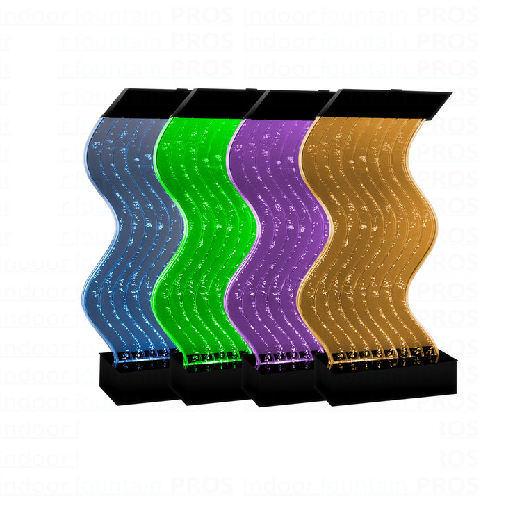 Water Panel Wave Bubble Fountain - Medium