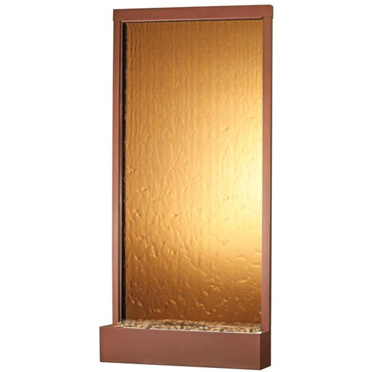 8' Copper Vein Grande With Bronze Mirror Floor Fountain