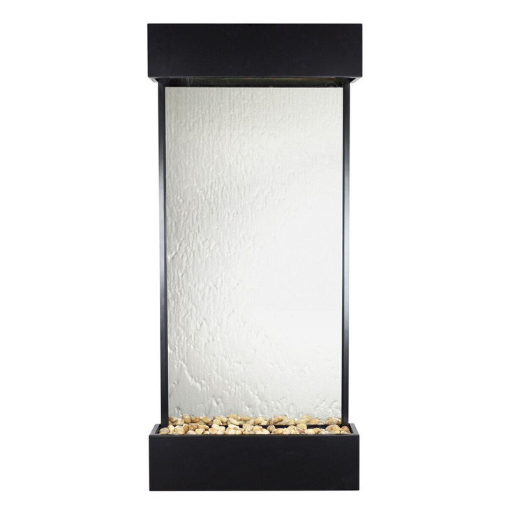 Echo Falls Large Vertical Silver Mirror with Black Onyx Trim - Indoor Fountain Pros