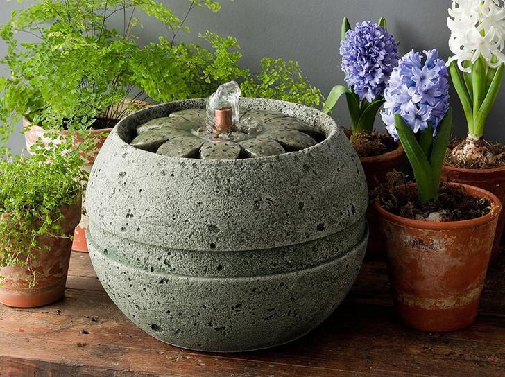 Campania Rosette Mini Series Fountain - Indoor Fountain Pros