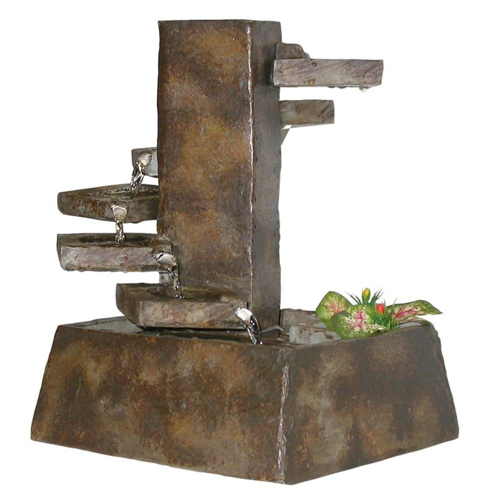 Eternity Tabletop Fountain: Tiered Stone - Indoor Fountain Pros