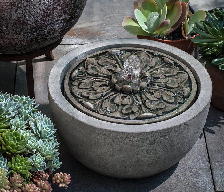 M-Series Medallion Garden Water Fountain - Indoor Fountain Pros