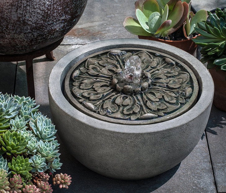 M-Series Medallion Garden Water Fountain - Indoor Fountain Pros