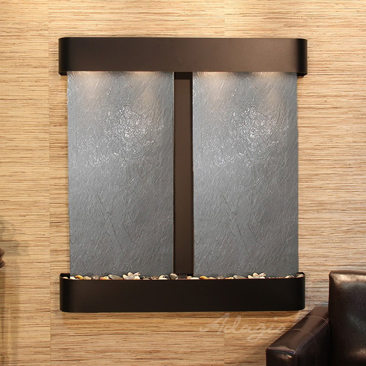 Aspen Falls - Round Corners - Blackened Copper - Black Featherstone