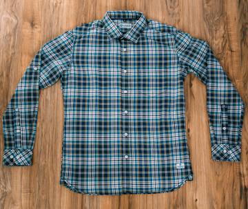 Kaiback Kickback Fitted - Blue Plaid