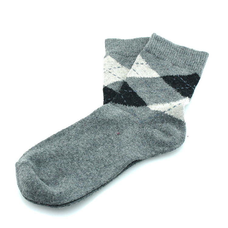 Kaiback Sweet Socks - Gray Argyle