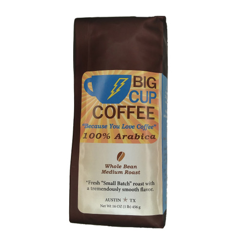 "100% Arabica ""Small Batch Roasted"" Whole Bean Coffee - 1lb, Big Cup Blend, The Original 1 Pound Bag"