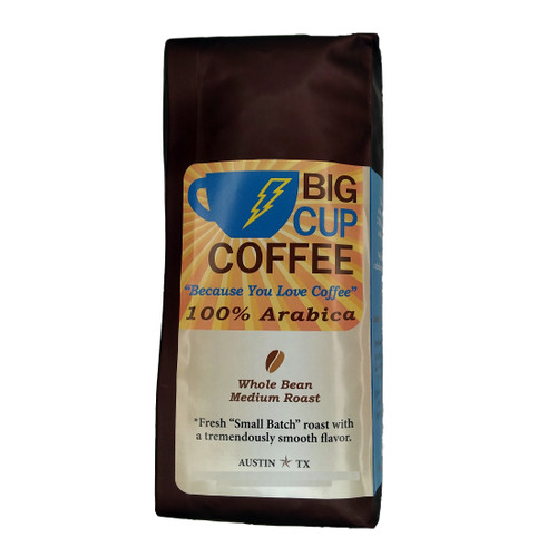 "100% Arabica ""Small Batch Roasted"" Whole Bean Coffee - 14oz, Big Cup Blend"