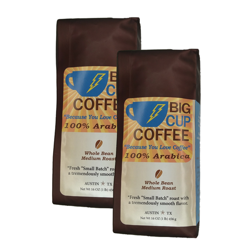 "100% Arabica ""Small Batch Roasted"" Whole Bean - 2lb"