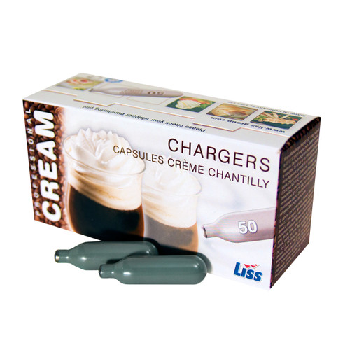 Liss 50 pack Cream Chargers N2O