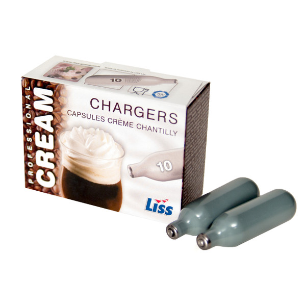 Qty 100 Liss Whip Cream Chargers N2O Nitrous Oxide