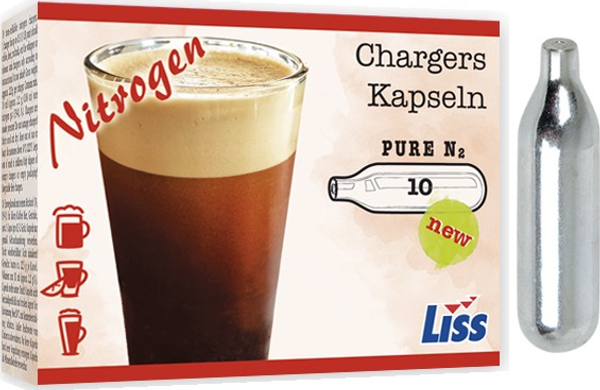 Nitrogen N2 Cartridges NITRO  – Coffee Beer Cold Brew Nitro – Non-threaded – N2 Chargers 10 Pk