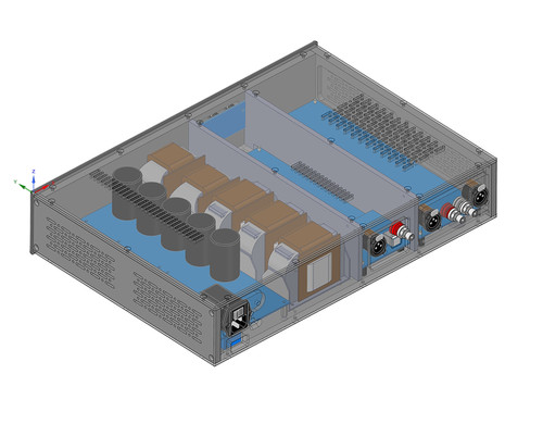 CAD Drawing Inside View New Machined Chassis