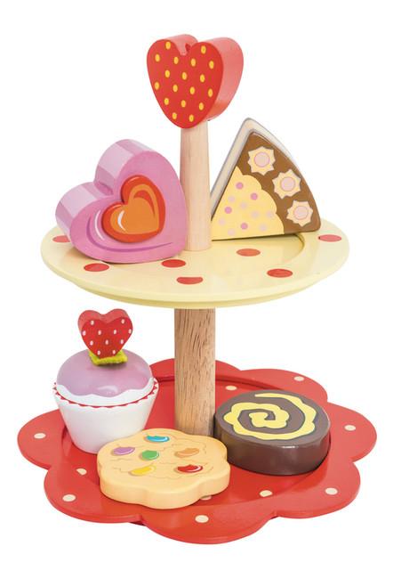 Le Toy Van Honeybake 2 Tier Cake Stand Set
