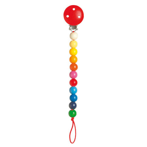 Heimess Pacifier Holder Rainbow Beads