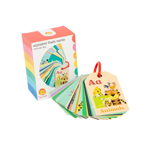 Tiger Tribe Flash Cards - Animal ABC with packaging