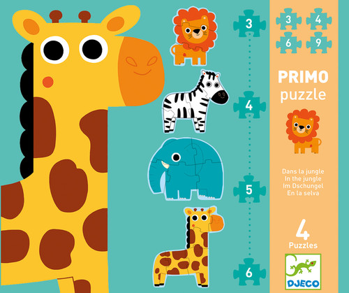 Djeco Jungle First 18pc Progressive Puzzle