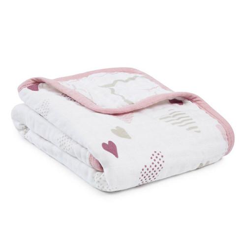 Aden + Anais Classic Stroller Blanket Heart Breaker