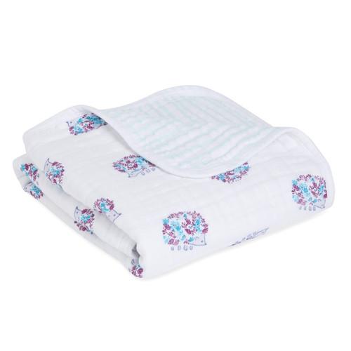 Aden + Anais Classic Stroller Blanket  Thistle