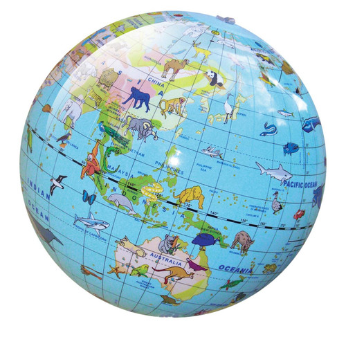 Tiger Tribe World Globe - Animal 30cm