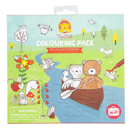 Tiger Tribe Colouring Pack - Woodland Friends