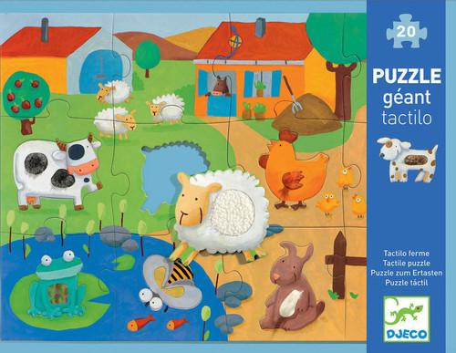 Djeco Tactile Farm Giant Puzzle