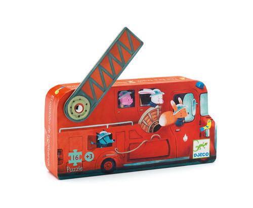 Djeco The Fire Truck Silhouette Puzzle