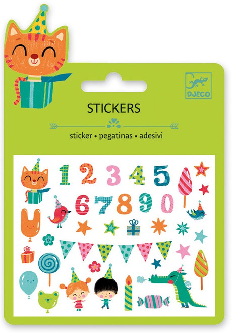 Djeco Birthday Mini Stickers