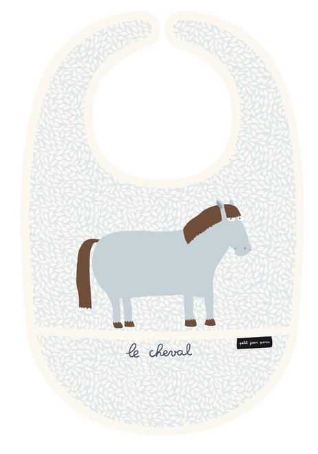 Petit Jour PVC Coated Cotton Bib Horse