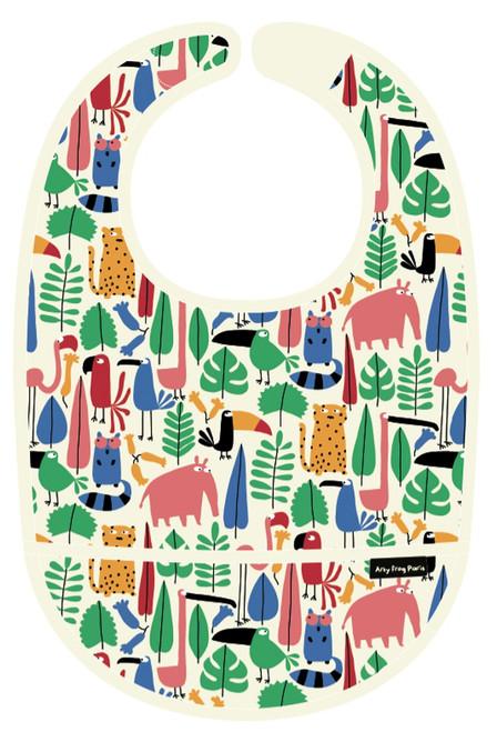 Petit Jour PVC Coated Cotton Bib Jungle