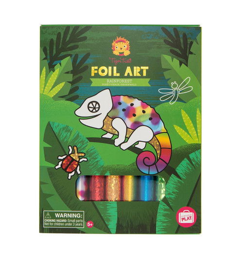 Tiger Tribe Foil Art - Rainforest
