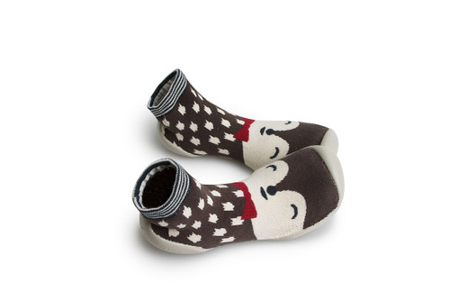 Collegien Slipper Socks - Renard Polaire