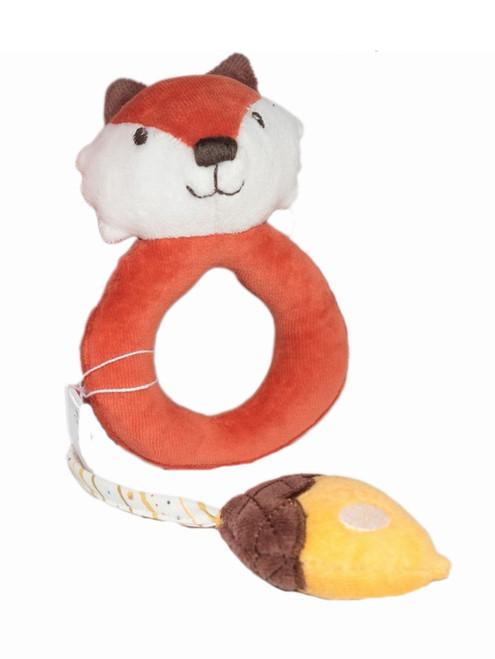 Tikiri Fox With Acorn Rattle
