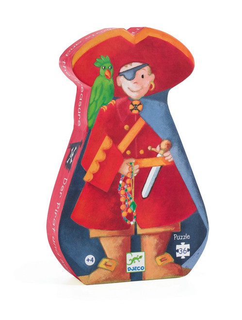 Djeco Pirate And Treasure Silhouette Puzzle